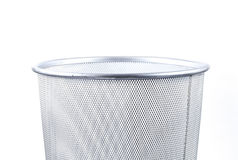 Empty wire metal bin Stock Photo