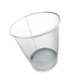 Empty wireframe trash bin Royalty Free Stock Photos