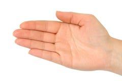 Empty woman hand Stock Photo