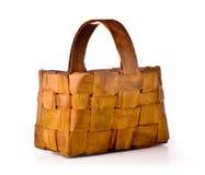 Empty  wood basket Royalty Free Stock Photo