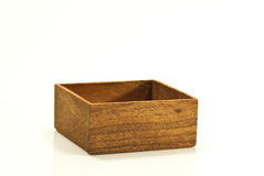 Empty wood box. On white background Royalty Free Stock Photography