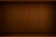 Empty wood box, cabinet or bookcase as background Royalty Free Stock Images