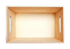 Empty Wood Box Royalty Free Stock Images