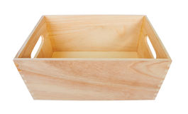 Empty Wood Box Stock Photography