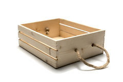 Empty wood box Stock Image
