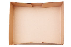 Empty wood box with white background Royalty Free Stock Image