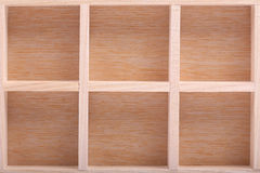 Empty wood brown shelves Royalty Free Stock Images
