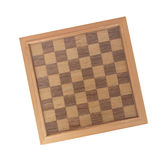 Empty wood chessboard Stock Image
