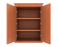 Empty wood cupboard Royalty Free Stock Images
