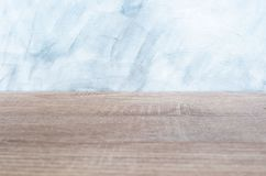 Empty wood desk and wall gray background . Blank space for text and images.  royalty free illustration