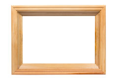Empty wood frame border. Royalty Free Stock Photo