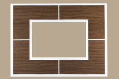 Empty wood frame border. Stock Photo
