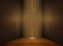 Empty Wood Room Royalty Free Stock Photography