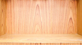 Empty wood shelf Royalty Free Stock Photography