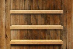 Empty wood shelf. 3 Empty old wooden shelf royalty free stock photos