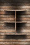 Empty wood shelf Stock Photos