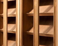 Empty wood shelf. Interior construction stock images