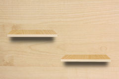 Empty wood shelf. 2 Empty old wooden shelf royalty free stock image