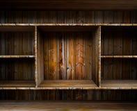 Empty wood shelf Stock Image