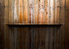 Empty wood shelf Royalty Free Stock Image