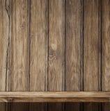 Empty wood shelf background. Empty wood shelf vintage background Stock Image