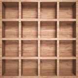 Empty wood shelf Royalty Free Stock Photos