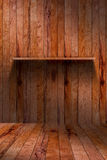 Empty wood shelf. grunge industrial interior Stock Images