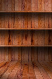 Empty wood shelf. grunge industrial interior Stock Photography