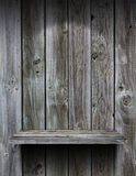 Empty wood shelf grunge interior. Background for display object royalty free stock photo