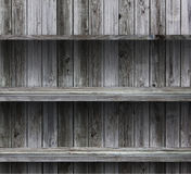 Empty wood shelf grunge interior Royalty Free Stock Photography