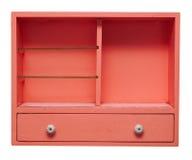 Empty wood shelf isolayed on white. Background royalty free stock photo