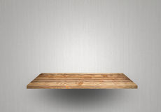 Empty wood shelf Stock Photos