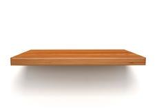 Empty wood shelf on wall Royalty Free Stock Photography