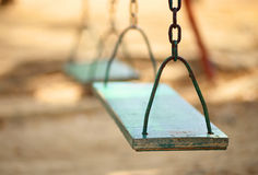 Empty wood swing Royalty Free Stock Photos