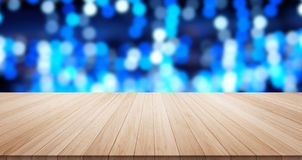 Empty wood table  floor top for display or montage product Stock Photos