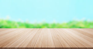 Empty wood table  floor top for display or montage product Royalty Free Stock Photography