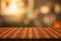 Empty wood table top on blurred background,for montage your prod Stock Image