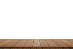 Empty wood table top isolate on white background. Royalty Free Stock Photography
