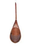 Empty Wood Weave Plant Pot. Royalty Free Stock Photos