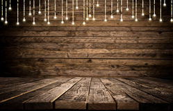 Empty wooden background table Stock Images
