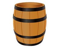 Empty wooden barrel Stock Photography