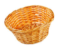 Empty wooden basket Stock Photo