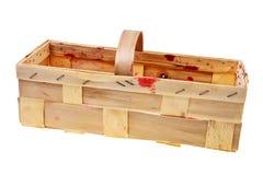 Empty wooden basket. Stock Images