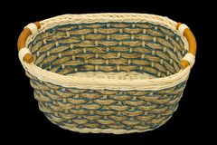 Empty wooden basket Royalty Free Stock Images