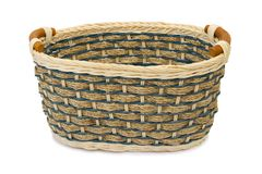 Empty wooden basket Royalty Free Stock Photography