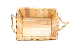 Empty wooden basket Stock Photography