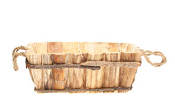 Empty wooden basket Stock Images