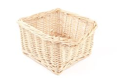 Empty wooden basket Royalty Free Stock Photo