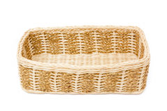 Empty wooden basket Royalty Free Stock Image
