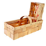 Empty wooden baskets. Stock Photos